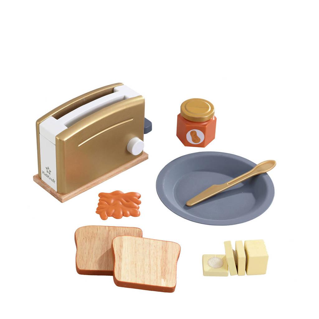 KidKraft houten speelgoed toasterset - Modern Metallics