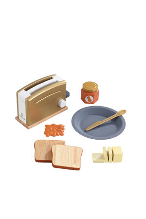 houten speelgoed toasterset - Modern Metallics