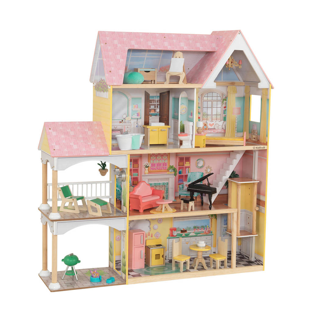 KidKraft houten poppenhuis Lola Mansion met EZ Kraft Assembly
