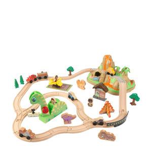 houten Dinosaurus treinset met opbergbak