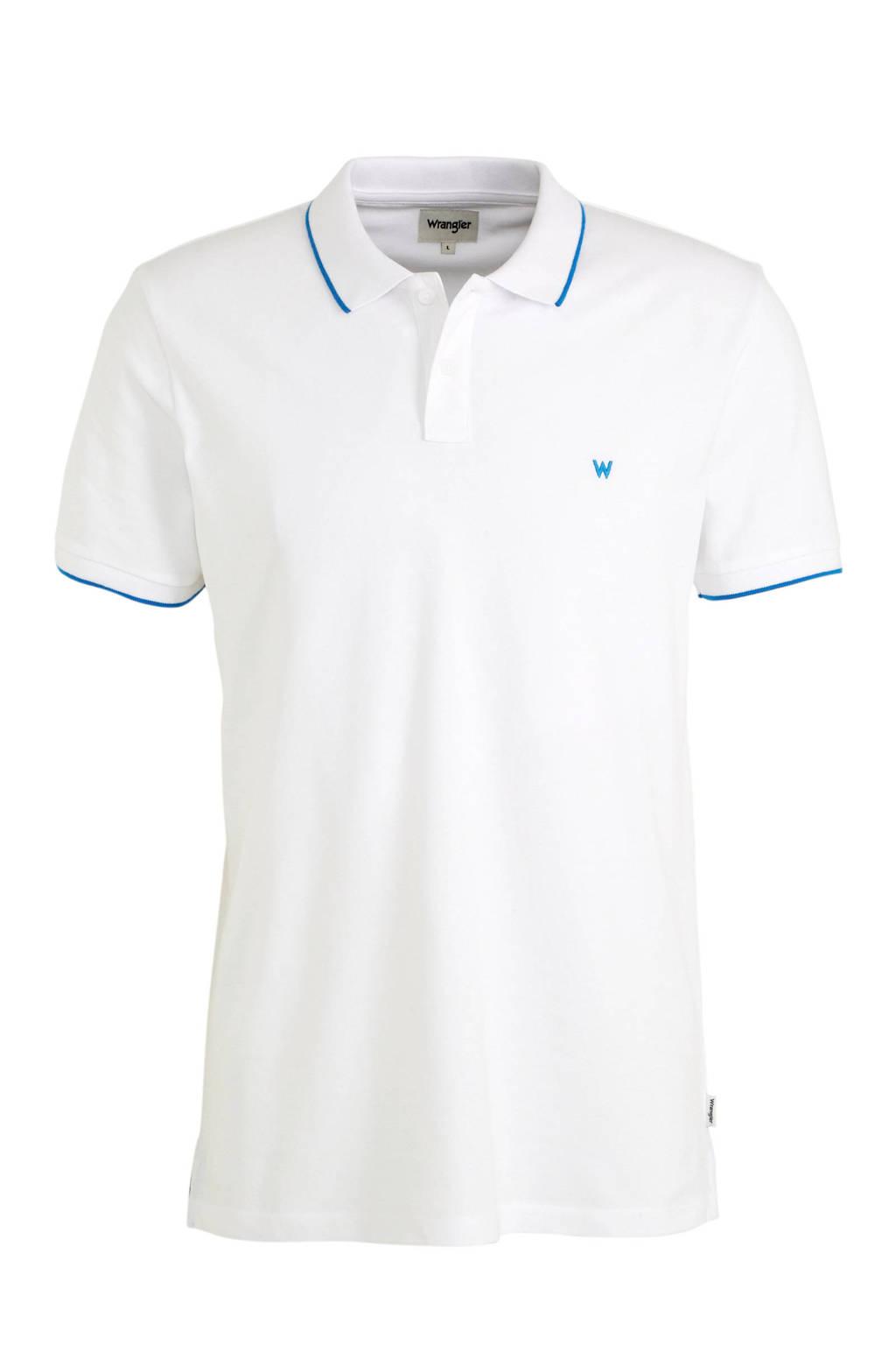 Wrangler regular fit polo white, White