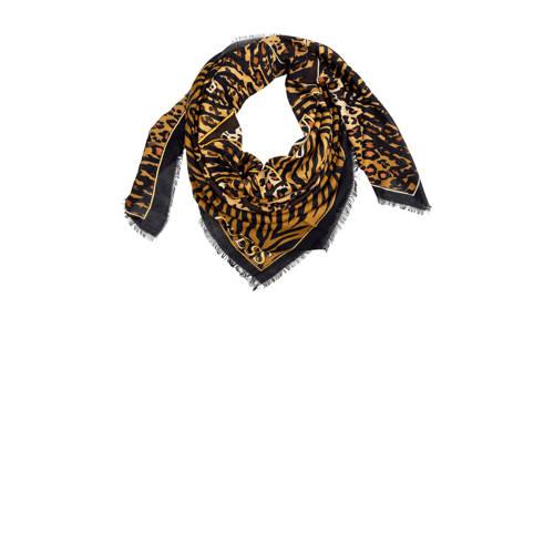 GUESS panterprint sjaal KEFIAH bruin