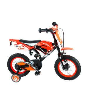 kinderfiets 12 inch Oranje Motorbike 12 inch kinderfiets orange