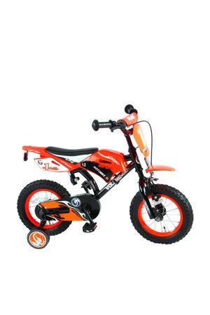 Motorbike 12 inch kinderfiets orange
