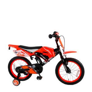 Motorbike 16 inch kinderfiets orange