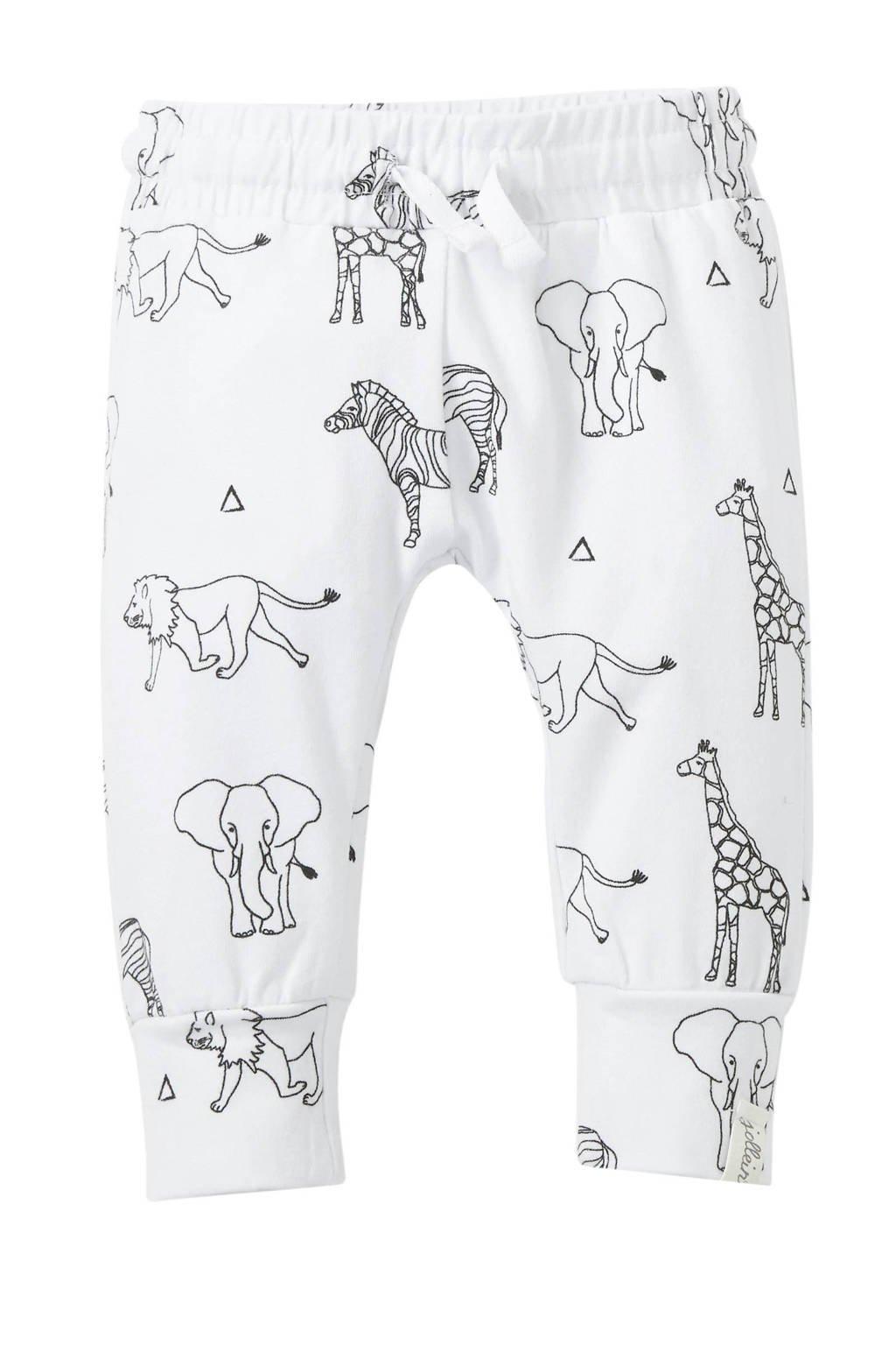 Jollein broek met all over print wit/zwart, Wit/zwart