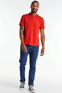 Lee regular fit polo met logo rood/blauw, Rood/blauw
