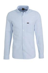 Lee gestreept slim fit overhemd blauw/wit, Blauw/wit