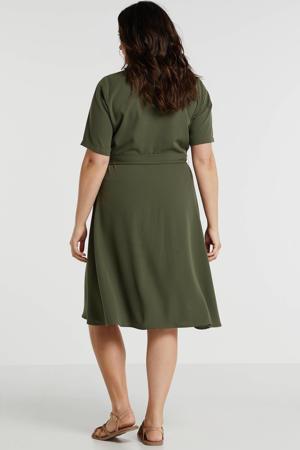 jurk Plus size donkergroen