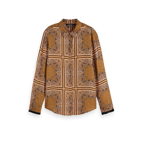 Scotch & Soda blouse met all over print lichtb