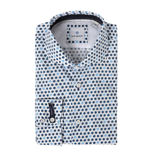 Blue Industry slim fit overhemd met all over print