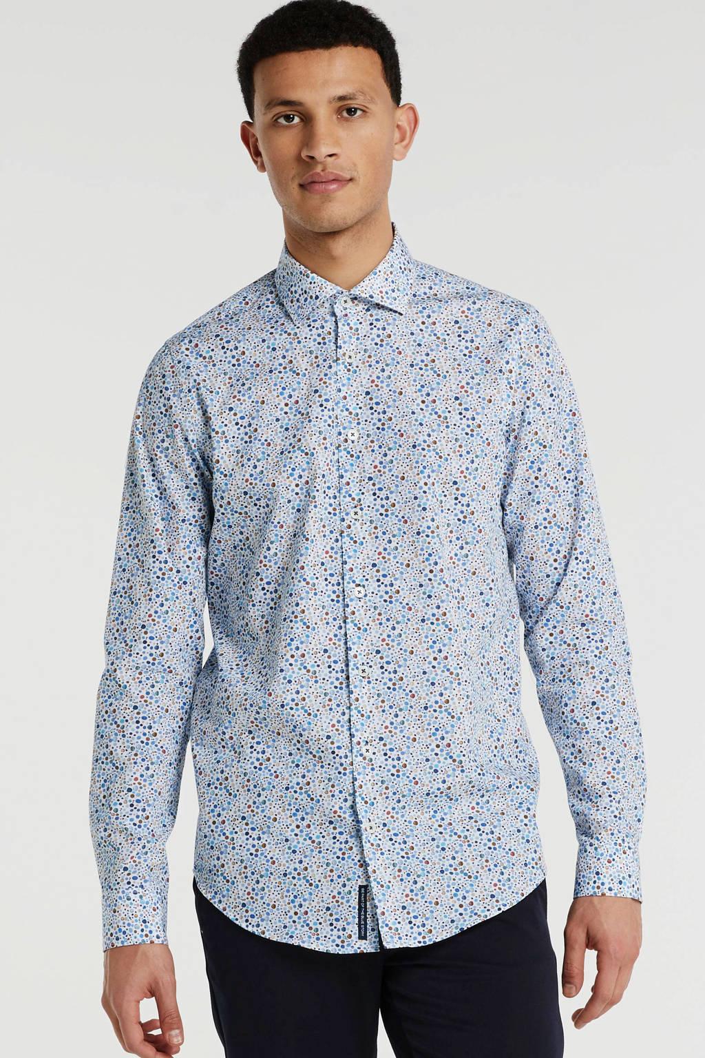 Blue Industry slim fit overhemd met all over print meerkleurig, Meerkleurig