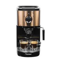 Bestron AES1000CO espresso apparaat, zwart, koper