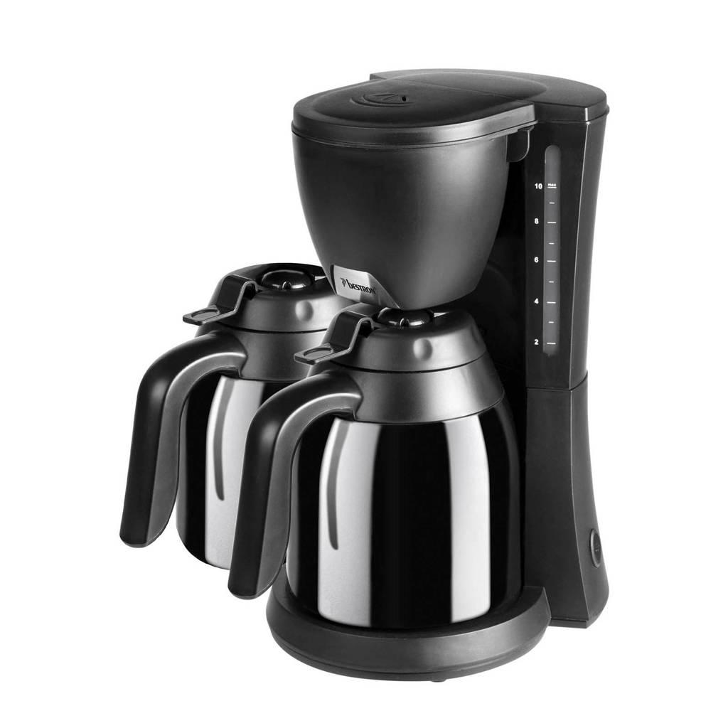 Bestron ACM730TD koffiezetapparaat met 2 thermokannen, Zwart