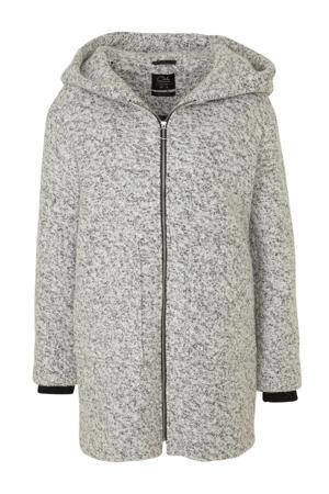 Clockhouse coat met wol wit/zwart
