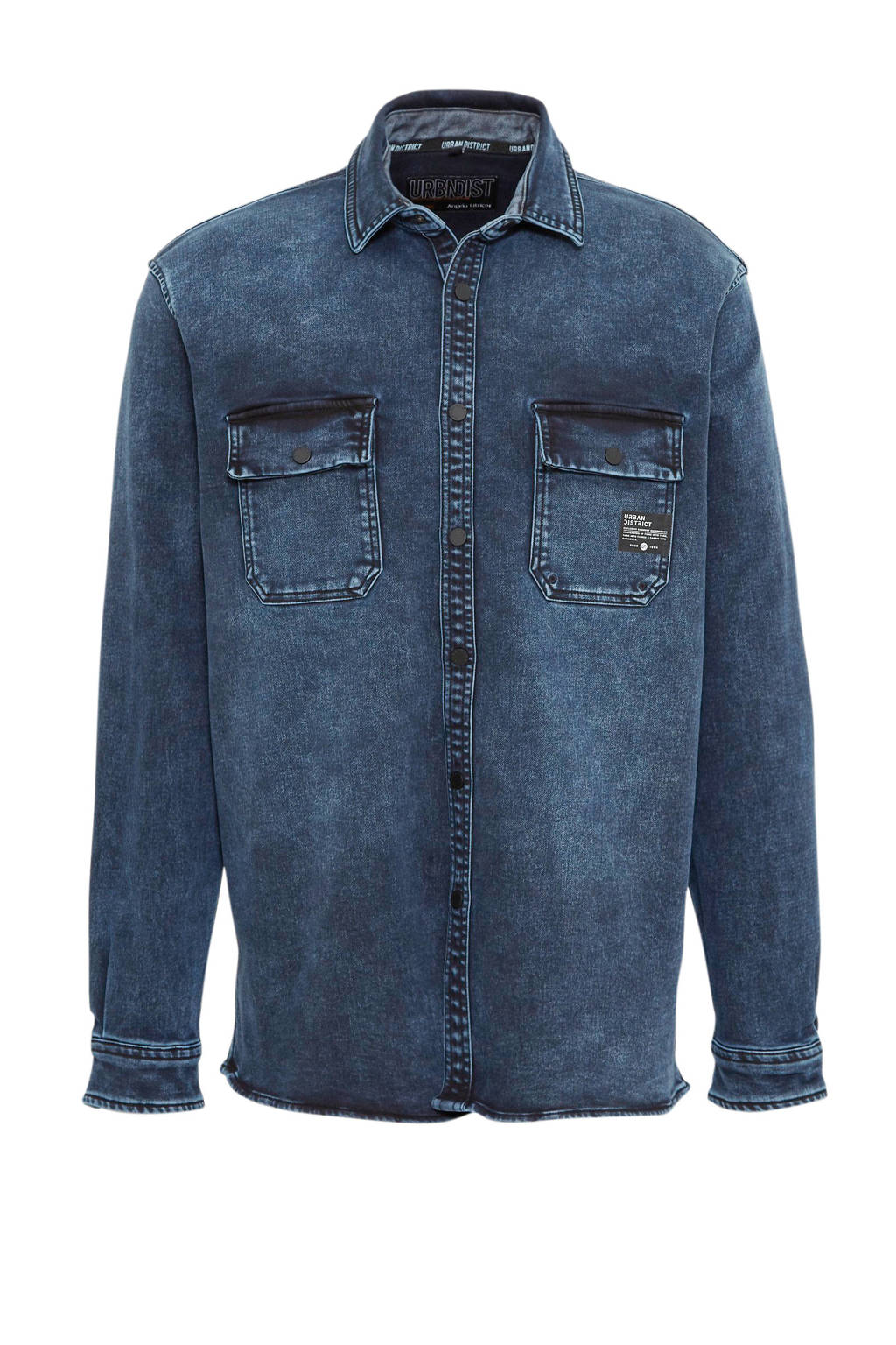 C&A Angelo Litrico regular fit overhemd donkerblauw, Donkerblauw