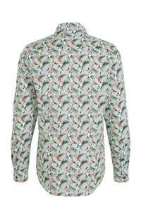 Blue Industry slim fit overhemd groen/wit/oranje
