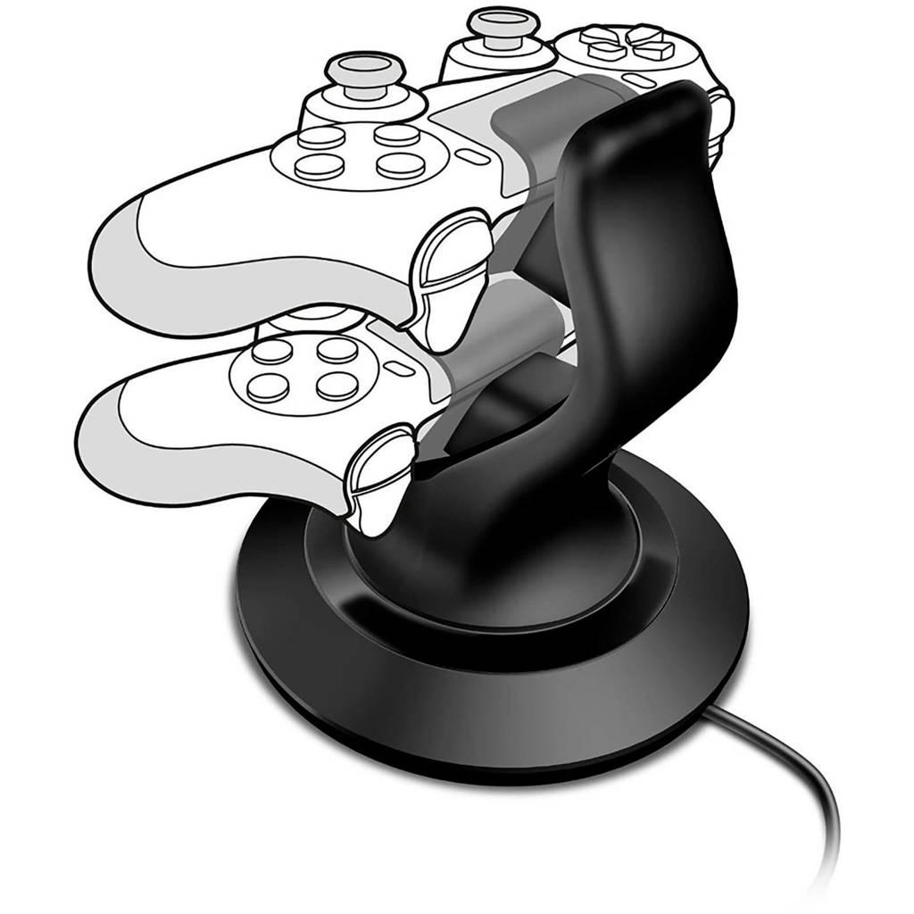 Speedlink Twindock dubbel oplaadstation voor PS4, Zwart