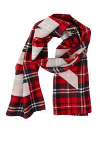 NIK&NIK geruite sjaal zwart/rood, Zwart/rood/wit