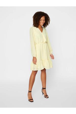 jurk met plooien geel