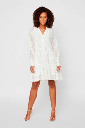 jurk en plooien wit