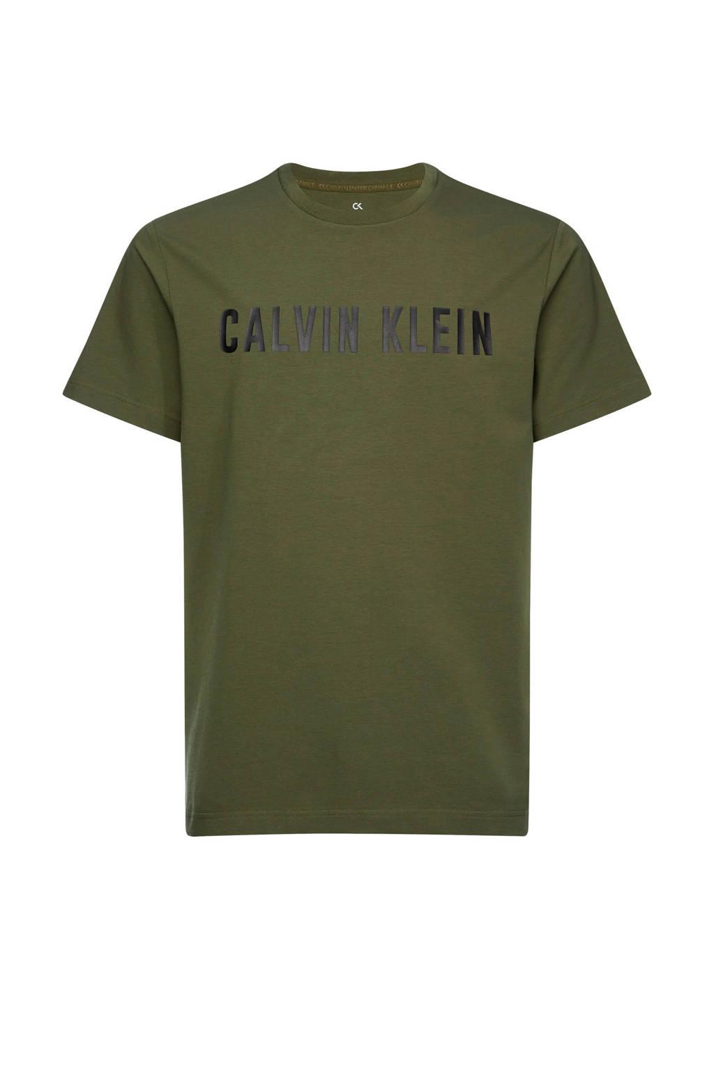 CALVIN KLEIN PERFORMANCE   T-shirt kaki, Kaki