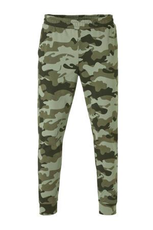 joggingbroek camouflageprint groen