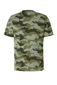 CALVIN KLEIN PERFORMANCE   T-shirt camouflageprint groen, Groen