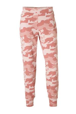 joggingbroek camouflageprint roze