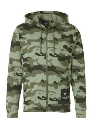 vest camouflageprint groen