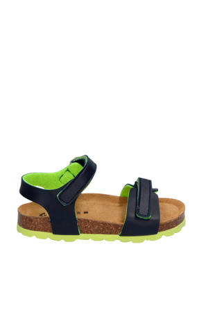 Seth Spain  leren sandalen donkerblauw/groen