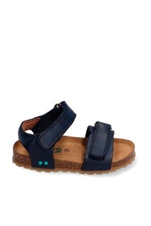 Bas Beach  leren sandalen donkerblauw