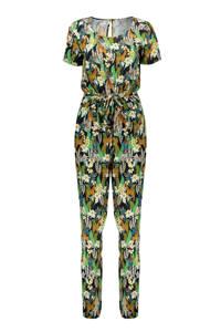 Geisha jumpsuit met all over print multi, Groen/multi