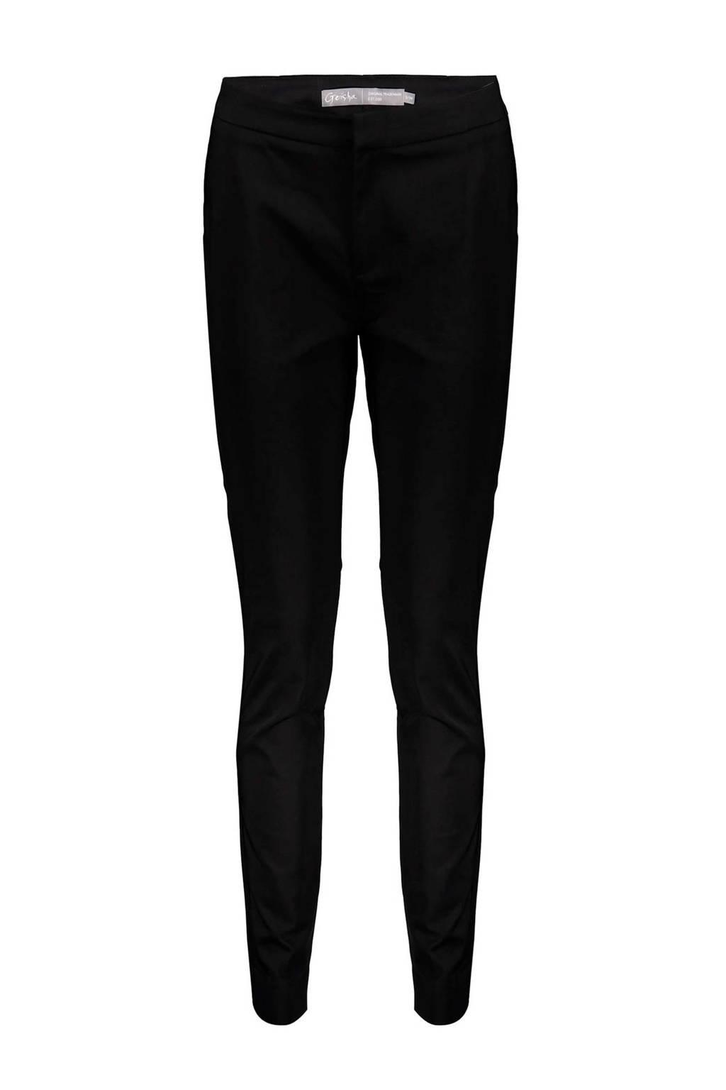 Geisha skinny broek zwart, Zwart