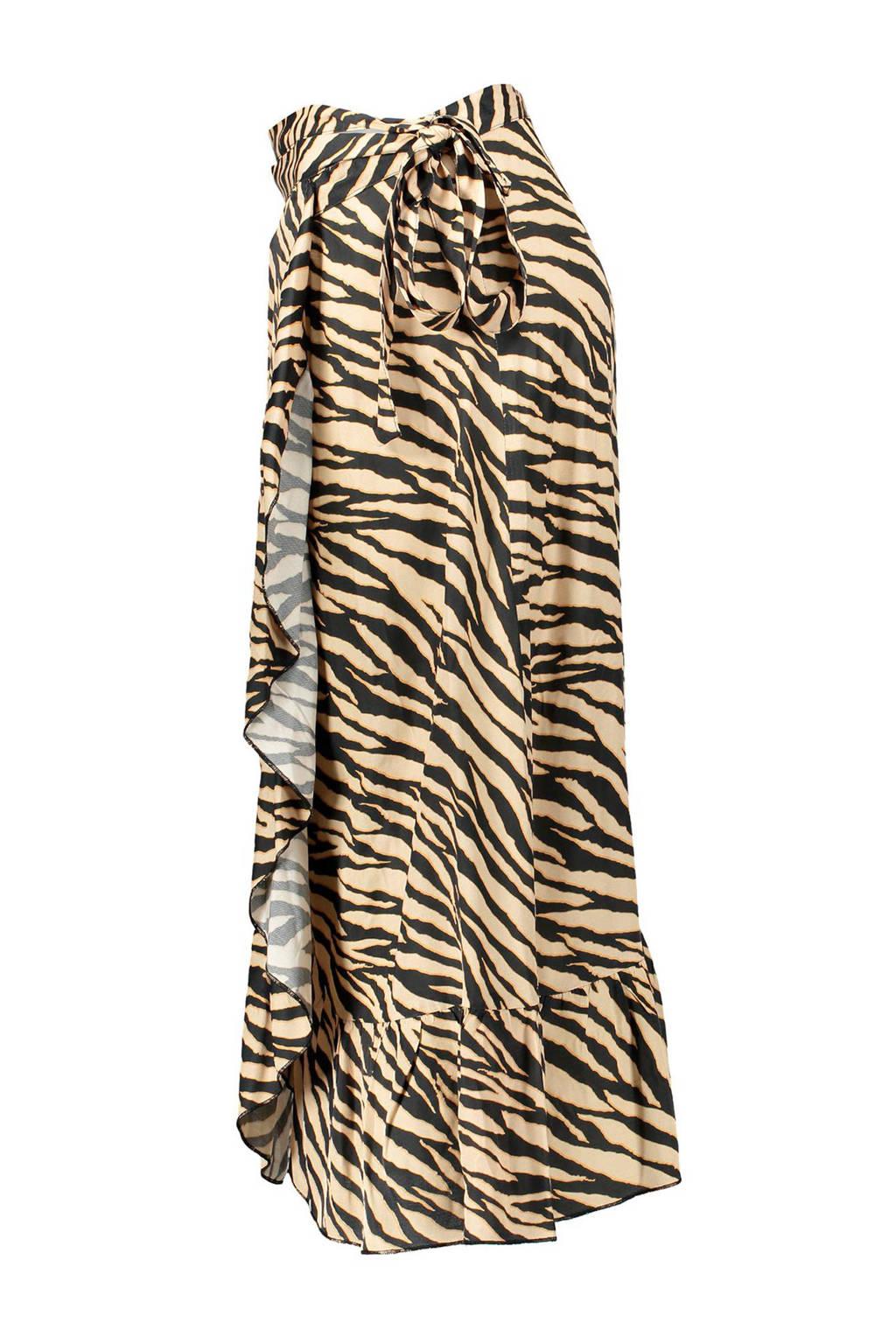 Geisha rok met zebraprint zand/zwart, Zand/zwart