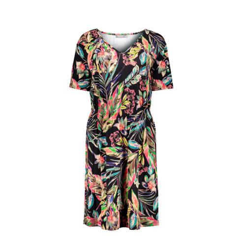 Geisha jersey jurk met all over print zwart oranje roze, Deze damesjurk van Geisha is gemaakt van een viscosemix en heeft een all over print. De jurk met korte mouwen heeft verder een V-hals.Extra gegevens:Merk: GeishaKleur: ZwartModel: Jurk (Dames)Voorraad: 4Verzendkosten: 0.00Plaatje: Fig1Maat/Maten: LLevertijd: direct leverbaar