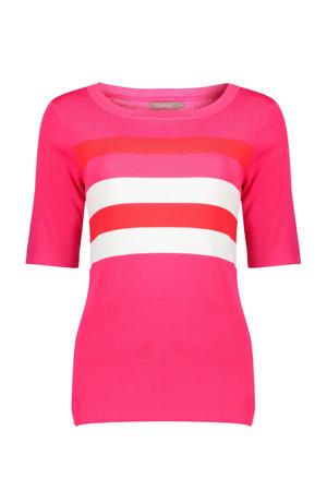 gestreepte trui roze/rood/wit