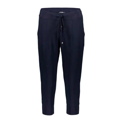 Geisha cropped slim fit broek donkerblauw