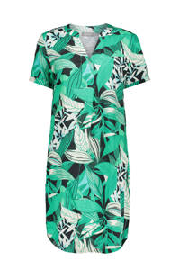Geisha jurk met all over print groen, Groen