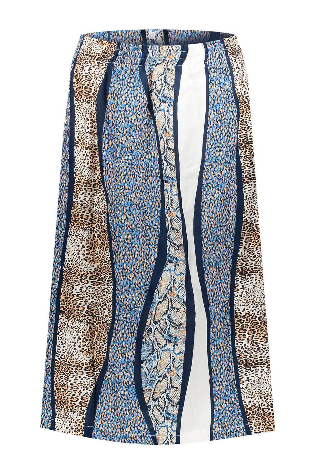 Geisha A-lijn rok blauw/multi, Blauw/multi