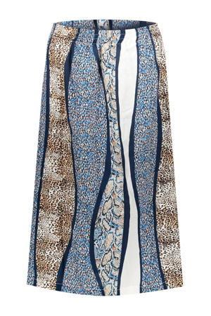 A-lijn rok blauw/multi