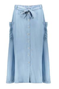 Geisha rok van lyocell met zakken lichtblauw, Lichtblauw