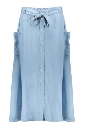rok van lyocell met zakken lichtblauw