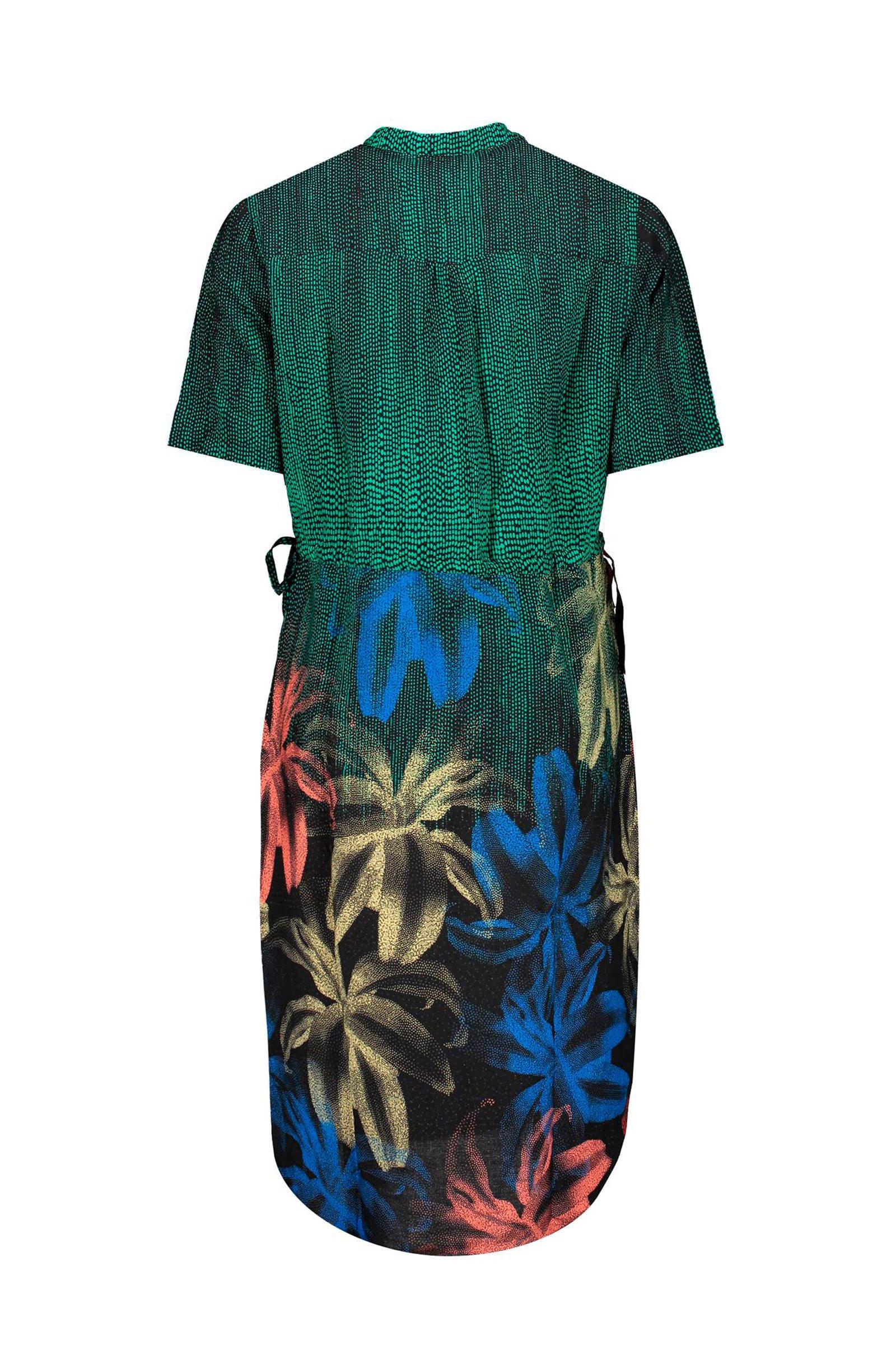 Geisha blousejurk groen/multi