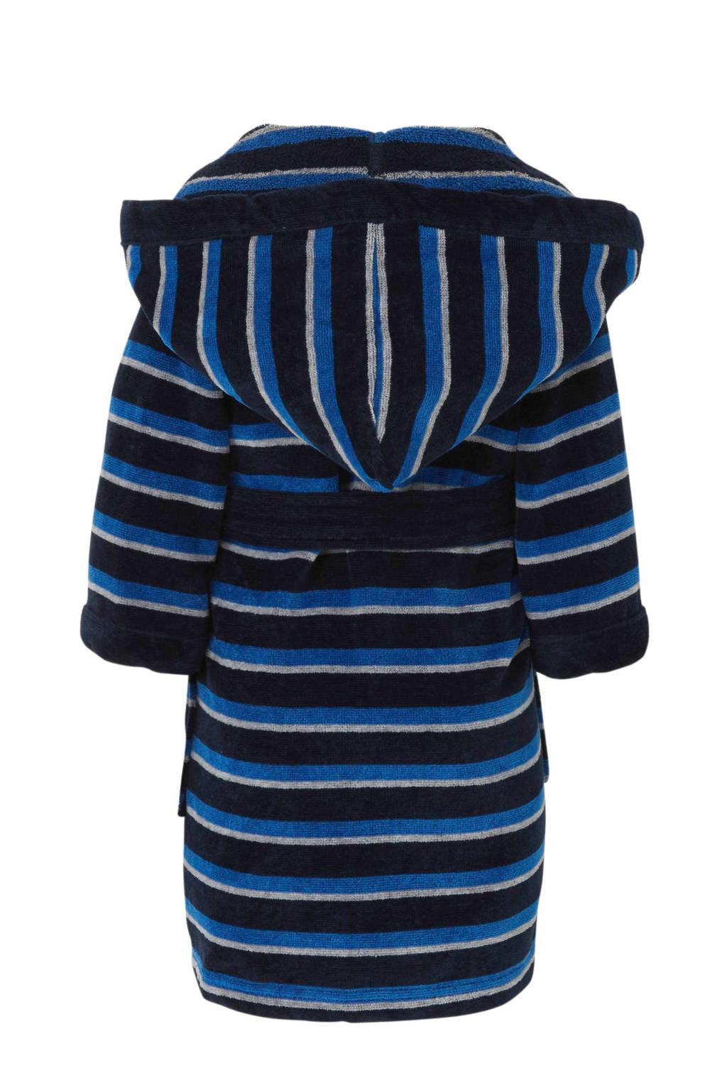 C&A Palomino   badjas streep donkerblauw, Donkerblauw