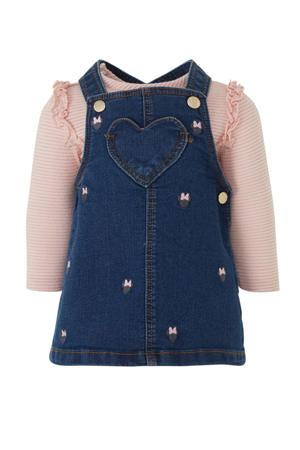 Baby Club top + jurk C&A donkerblauw