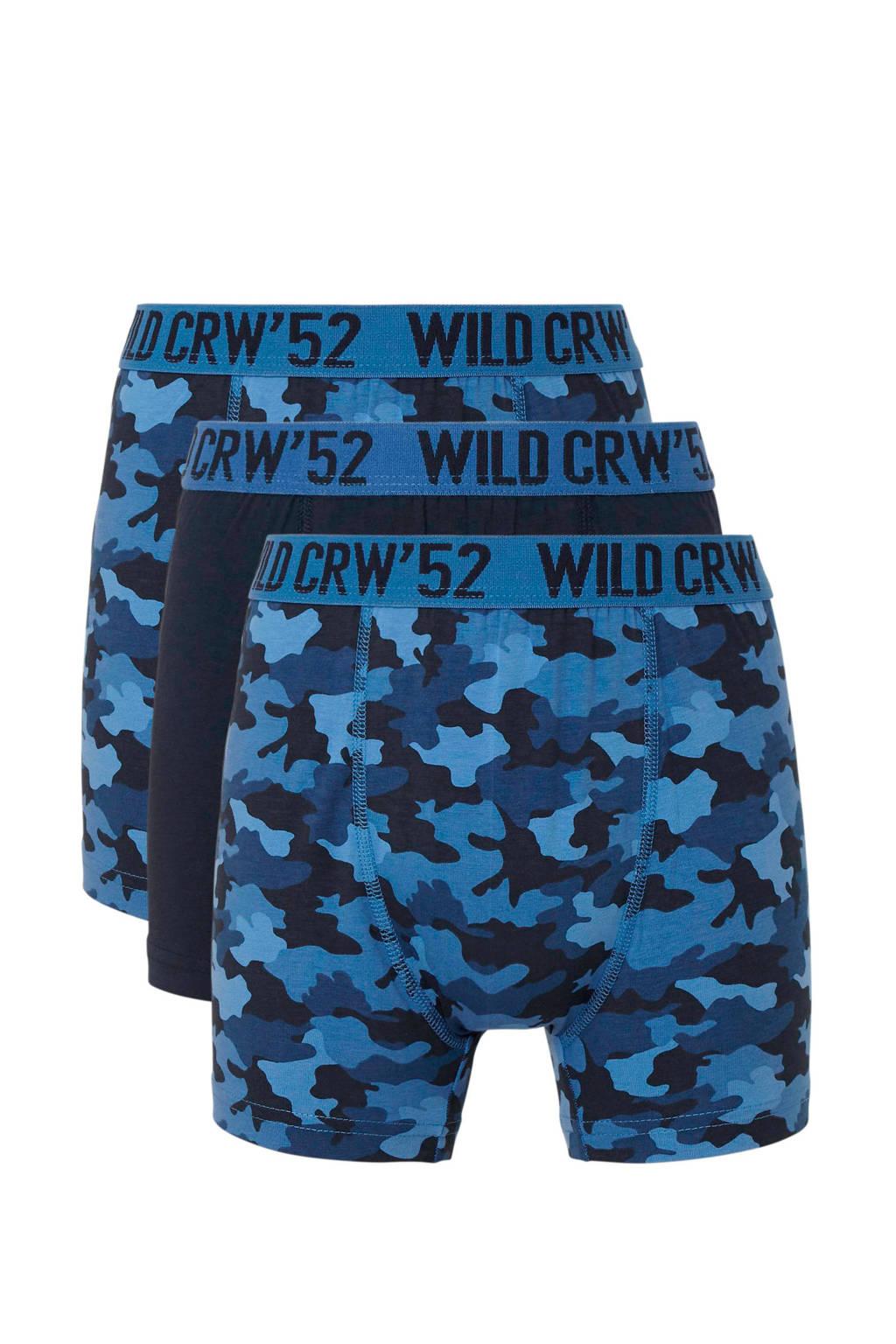 C&A Here & There   boxershorts- set van 3 blauw/donkerblauw, Donkerblauw