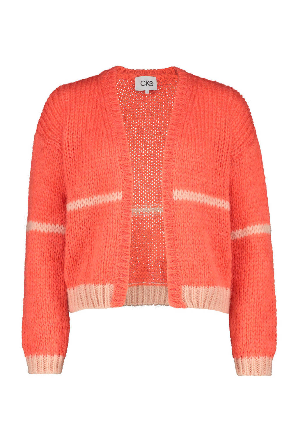 CKS vest Bercard  met wol oranje, Oranje