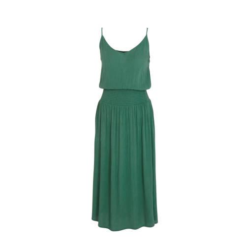 anytime crinkle viscose jurk groen