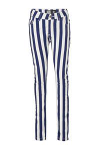 Crush Denim gestreepte skinny jeans Betty marine/wit, Marine/wit